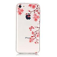 Назначение iPhone X iPhone 8 iPhone 6 iPhone 6 Plus Чехлы панели IMD Ультратонкий Прозрачный С узором Задняя крышка Кейс для Цветы Мягкий