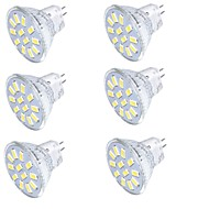 billige LED-spotlys-YouOKLight 350 lm GU4(MR11) LED-spotlys MR11 15 leds SMD 5733 Dekorativ Varm hvid Kold hvid 30-09-16