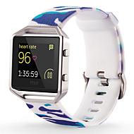 Недорогие Аксессуары для смарт часов-Белый / Зеленый / Синий силиконовый Style trends+Silicone material Спортивный ремешок Для Fitbit Смотреть 23мм