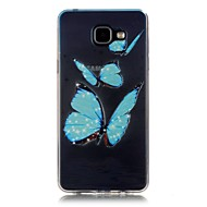 Для Кейс для  Samsung Galaxy Прозрачный Other Кейс для Задняя крышка Кейс для Цветы Мягкий TPU для Samsung A5(2016) A3(2016)