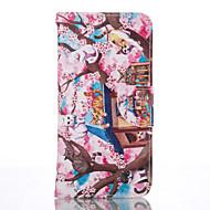 halpa Galaxy S5 Mini kotelot / kuoret-Etui Käyttötarkoitus Samsung Galaxy Samsung Galaxy S7 Edge Korttikotelo Lomapkko Tuella Suojakuori Kissa Pehmeä PU-nahka varten S7 edge