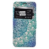 tanie Galaxy A9(2016) Etui / Pokrowce-Kılıf Na Samsung Galaxy Samsung Galaxy Etui Etui na karty Odporne na kurz Odporne na wstrząsy Z podpórką Pełne etui Mandala Miękkie Skóra