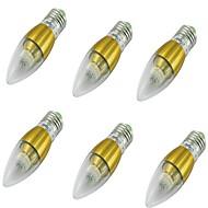 5W E26/E27 Ampoules Bougies LED A60(A19) 50 diodes électroluminescentes SMD 3014 Décorative Blanc Froid 400-450lm 6000K AC110-220