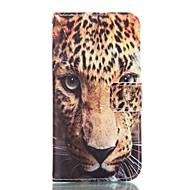 Недорогие Чехлы и кейсы для Galaxy А-Кейс для Назначение SSamsung Galaxy Кейс для  Samsung Galaxy Бумажник для карт Кошелек со стендом Чехол Леопардовый принт Мягкий Кожа PU