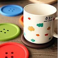 Zaokrąglanie Jendolity kolor Polka Dots Podstawki , Plastik Materiał