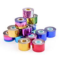 abordables Adhesivos para Uñas-1 rolls Engomada del arte del clavo Joyas de Uñas / Calcomanías de Uñas 3D maquillaje cosmético Nail Art