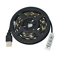 お買い得  -JIAWEN 1m フレキシブルLEDライトストリップ 60 LED 5050 SMD RGB カット可能 / 防水 / 車に最適 5 V / # / IP65 / ノンテープ・タイプ