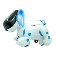 Machine Dog Light Up Plastic White / Blue Music Toy For Kids