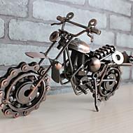 abordables Decoraciones en Madera-Motocicleta de hierro forjado modelo decoración decoración vintage decoración del hogar accesorios en miniatura estatuilla kawaii