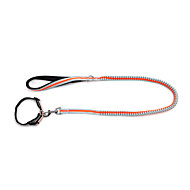 Hunde Halsbänder / Leinen Reflektierend / Regolabile/Einziehbar / Sicherheit / Weich / fluoreszierend / Laufen Solide Grün / Orange Nylon