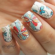 abordables Adhesivos para Uñas-1 pcs Etiqueta engomada de la transferencia arte de uñas Manicura pedicura Flor / Moda Diario