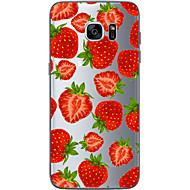 お買い得  Samsung 用 ケース/カバー-ケース 用途 Samsung Galaxy Samsung Galaxy S7 Edge パターン バックカバー 果物 ソフト TPU のために S7 edge S7 S6 edge plus S6 edge S6