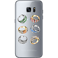 Varten Samsung Galaxy S7 Edge Kuvio Etui Takakuori Etui Leikki Apple-logon kanssa Pehmeä TPU SamsungS7 edge / S7 / S6 edge plus / S6 edge