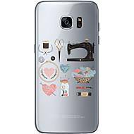 Для Samsung Galaxy S7 Edge С узором Кейс для Задняя крышка Кейс для Кружевной дизайн Мягкий TPU SamsungS7 edge / S7 / S6 edge plus / S6