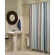 お買い得  浴室用小物-シャワー用カーテン 近代の ポリエステル 縞柄 機械製