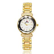 SOXY Damen Kleideruhr Modeuhr Armband-Uhr Quartz Wasserdicht Strass Legierung Band Armreif Rotgold
