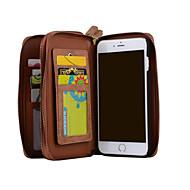 Недорогие Кейсы для iPhone 8-Назначение iPhone 8 iPhone 8 Plus iPhone 7 iPhone 6 Чехлы панели Кошелек Бумажник для карт Флип Чехол Кейс для Сплошной цвет Твердый
