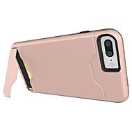 Недорогие Кейсы для iPhone 8 Plus-Кейс для Назначение Apple iPhone X / iPhone 8 / iPhone 7 Бумажник для карт / Защита от удара / со стендом Кейс на заднюю панель броня Твердый ПК для iPhone X / iPhone 8 Pluss / iPhone 8