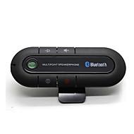 cheap Motorcycle Helmet Headsets-Bluetooth Car Kit Wireless Bluetooth Slim Magnetic Handsfree Car Kit Speaker Phone Visor Clip Bluetooth Aux High Quality