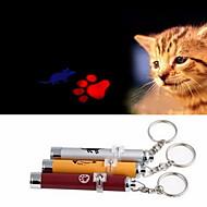 お買い得  -レーザー式おもちゃ 電子 マウス フットプリント アルミ 用途 ネコ 犬