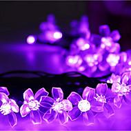 napenergia karácsonyi fények szirmokkal 23ft 50 led vízálló napelemes fény string Kültéri kerti esküvő, karácsony, fa