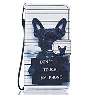 Na Samsung Galaxy S7 Edge Portfel / Etui na karty / Z podpórką / Flip / Wytłaczany wzór / Wzór Kılıf Futerał Kılıf Pies Twarde Skóra PU