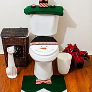olcso Fürdőszobai kütyük-minőségű flanel üléshuzat& szőnyeg talppárna víztartály beállított törölköző fedél fürdőszoba se mikulás karácsonyi dísz