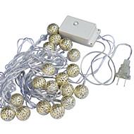 رخيصةأون -جياوين 20-ليد 5 متر الدافئة الأبيض عطلة الديكور سلسلة ضوء (أس 110-220 فولت)