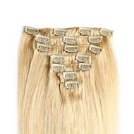 お買い得  -ヘアエクステンションでクリップ茶色の混合金髪20〜24インチの100グラム