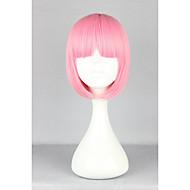お買い得  -人工毛ウィッグ ストレート ピンク ボブスタイル・ヘアカット / バング付き 合成 ピンク かつら 女性用 キャップレス ピンク hairjoy