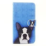 お買い得  携帯電話ケース-ケース 用途 Wiko ウォレット / カードホルダー / スタンド付き フルボディーケース 犬 ハード PUレザー のために Wiko Sunset 2 / Wiko Lenny 3 / Wiko Lenny 2