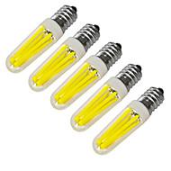 お買い得  LED キャンドルライト-JIAWEN 5個 4 W 360 lm E14 LEDキャンドルライト 4 LEDビーズ COB 装飾用 温白色 / クールホワイト 220 V / 220-240 V / RoHs