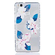 Для huawei p9 p9 plus lily pattern tpu материал высокопрозрачный чехол для телефона huawei p9 p9 plus y5ii y6ii