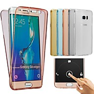 billige Galaxy A5(2016) Etuier-For Samsung Galaxy etui Transparent Etui Bagcover Etui Helfarve TPU for Samsung A7(2016) A5(2016) A3(2016)