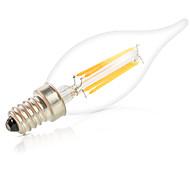 povoljno -HRY 1pc 6W 560lm E14 LED filament žarulje C35L 6pcs LED zrnca COB Zatamnjen Ukrasno Toplo bijelo Hladno bijelo 220-240V