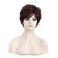 жен. Парики из искусственных волос Без шапочки-основы Волнистые Темно-рыжий Парик из натуральных волос Карнавальные парики