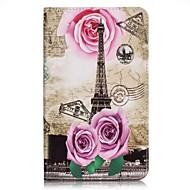 Для Кошелек / Бумажник для карт Кейс для Чехол Кейс для Эйфелева башня Твердый Искусственная кожа Samsung Tab A 7.0