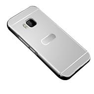 お買い得  携帯電話ケース-ケース 用途 HTC HTCケース メッキ仕上げ バックカバー 純色 ハード アクリル のために