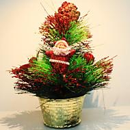 abordables Hogar y Mascotas-Mini árbol de navidad adornos de bolas de madera de pino