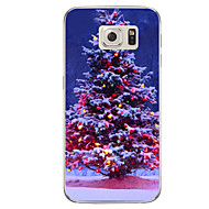 Voor samsung galaxy s7 s7 rand kerstboom tpu soft case cover s6 edge plus