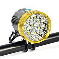 Pannlampor Strålkastarnas Remmar säkerhetslampor Framlykta LED 18000 LM 1 Läge Cree XM-L T6 Vinklad Ficklampa Superlätt Lämplig för fordon