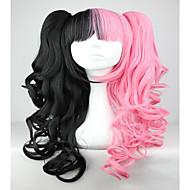 Недорогие Парики из искусственных волос-жен. Парики из искусственных волос Без шапочки-основы Волнистые Черный/Красный Парик с косичками Африканские косички Парики для косплей