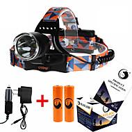 U'King ZQ-X8000 Pannlampor Framlykta LED 3000ML LM 3 Läge Cree XM-L T6 med batterier och laddare Zoombar Justerbar fokus Uppladdningsbar
