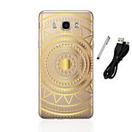 billige Galaxy J3(2016) Etuier-Etui Til Samsung Galaxy J5 (2016) J3 (2016) Gennemsigtig Mønster Bagcover Mandala-mønster Blødt TPU for J5 (2016) J5 J3 (2016) J3 J1