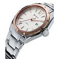 저렴한 -CURREN 남성용 손목 시계 밀리터리 시계 드레스 시계 패션 시계 스포츠 시계 석영 방수 스테인레스 스틸 밴드 사치 빈티지 캐쥬얼 멋진 실버