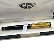 Bolígrafo Bolígrafo Plumas estilográficas Bolígrafo,Metal / Plástico Barril Negro colores de tinta For Suministros de la escuelaMaterial