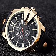Недорогие Фирменные часы-CURREN Муж. Спортивные часы Армейские часы Наручные часы Кварцевый 30 m Повседневные часы Cool Кожа Группа Аналоговый Роскошь Винтаж На каждый день Черный / Коричневый -  / Два года / Два года