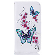 Card Holder  Wallet  with Stand  Butterfly Pattern Case Full Body Case  Hard PU Leather For Samsung S7 edge  S7  S6 edge  S6  S5
