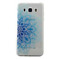 Til samsung galaxy j5 j3 (2016) case cover blå halv blomster mønster malet tpu materiale telefon taske