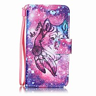 lone wolf painting pu phone case voor apple itouch 5 6 ipod cases / covers